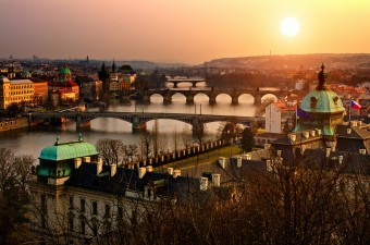 Prague_Vltava bridges